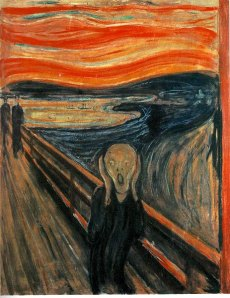 The Scream (or The Cry) 1893; 150 Kb; Casein/waxed crayon and tempera on paper (cardboard), 91 x 73.5 cm