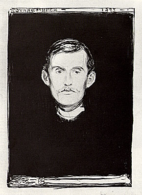 Self Portrait with Skeleton Arm, 1895. Lithograph, 45.5 x 31.7 cm